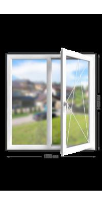 Пластиковое окно «KBE Greenline Expert» двухстворчатое
