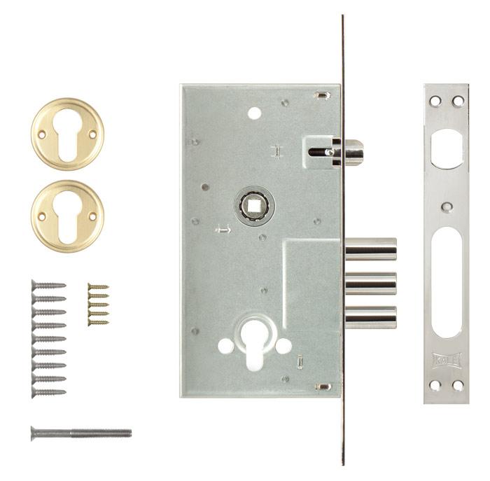 Корпус замка врезного цилиндрового 252/R w/b никель