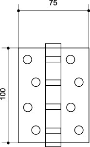 Петля универсальная 500-C4 100x75x3 GP Золото Box
