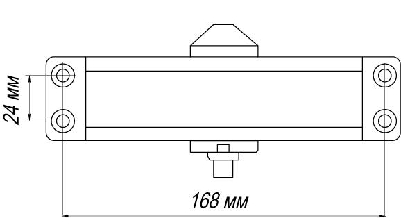 Доводчик дверной морозостойкий LY4 85 кг алюминий