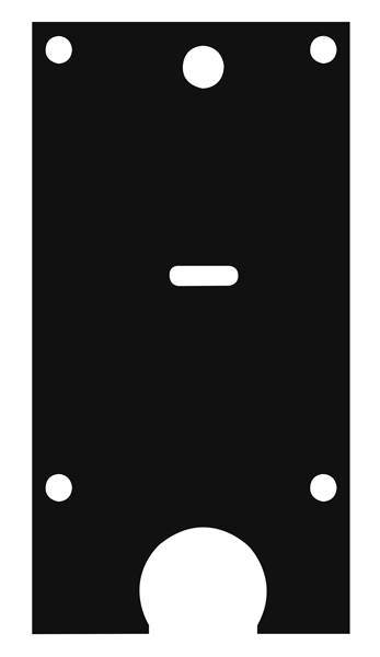 Пластина защитная для замков двухсистемных сувальдный ключ по центру, тип-размер Mottura 54.797