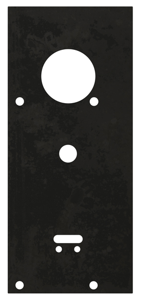 Пластина защитная для замков двухсистемных сувальдный ключ внизу, тип-размер CISA 57.986