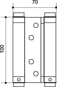"""Петля пружинная двусторонняя DAS SS 201-4"""" 100*70*1.5 CP Хром"""