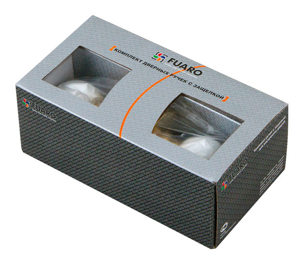 Ручка защелка  672 SN-E (мат. никель) кл/фик.