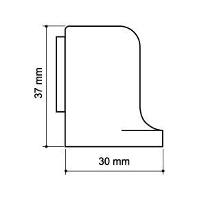 Упор дверной магнитный MDS-003ZA SN Мат. никель