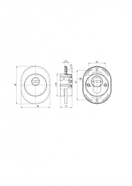 Броненакладка DEF 4825 CP ХРОМ