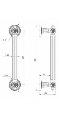 Ручка-скоба Matador PULL CL BB-17 Коричневая бронза