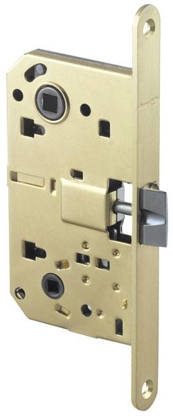 LH 19-50 SG BOX Защелка межкомнатная с планкой матовое золото