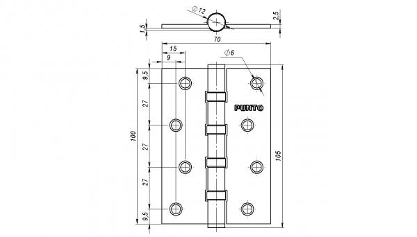 Петля универсальная 4B/HD 100 AC медь ПОДВЕС