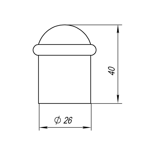 Упор дверной DS PF-40 CFB-18 кофе глянец