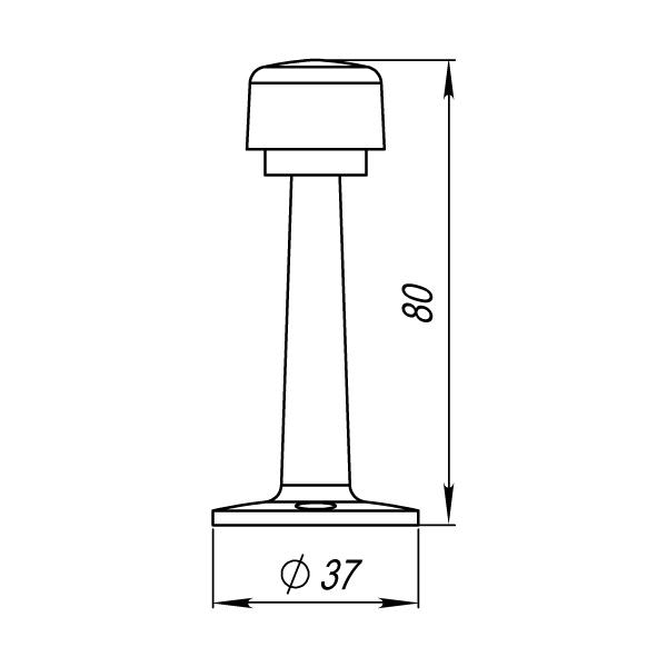 Упор дверной DS PW-80 CP-8 хром