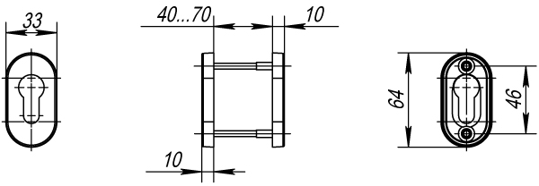 Накладка под цилиндр DSS-02P-ET (нержавейка)