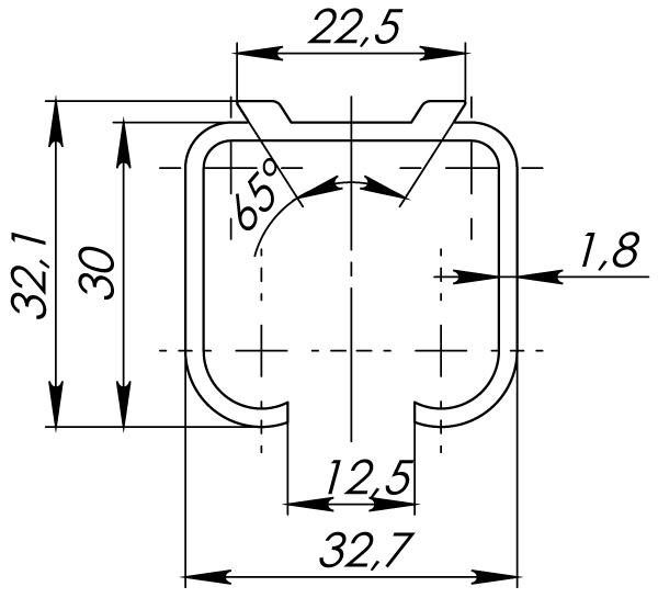 Верхняя направляющая Comfort R 60/80/1,8/2000 track 2 м