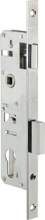 Корпус замка врезного цилиндрового узкопроф.153/P (30 mm) w/b (никель)