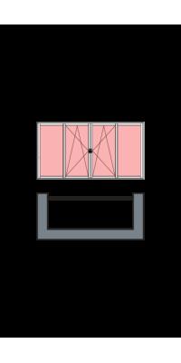 4-створчатое остекление лоджии или балкона