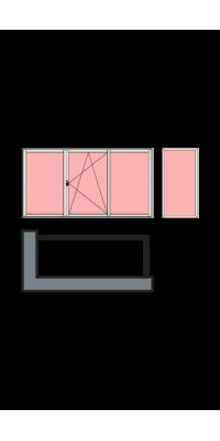 Г-образное остекление лоджии или балкона