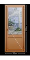 Алюминиевая дверь «теплая» одностворчатая с нажимной гарнитурой