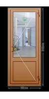 Алюминиевая дверь «теплая» одностворчатая с ручкой «скоба»