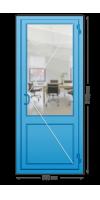 Алюминиевая дверь «холодная» одностворчатая с ручкой «скоба»