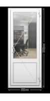 Пластиковая дверь «KBE» одностворчатая с ручкой «скоба»