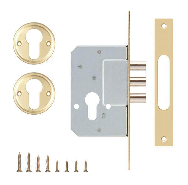 Корпус замка врезного цилиндрового 189/3M 45 mm w/b латунь
