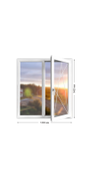 Пластиковое окно «Novotex» двухстворчатое