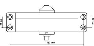 Доводчик дверной морозостойкий LY3 65 кг (бронза)
