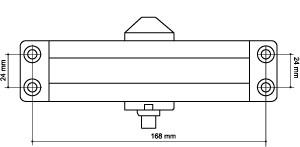 Доводчик дверной морозостойкий LY4 85 кг бронза