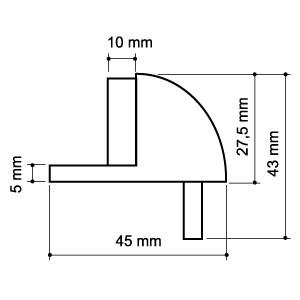 Упор дверной напольный DH003ZA SN Мат. никель