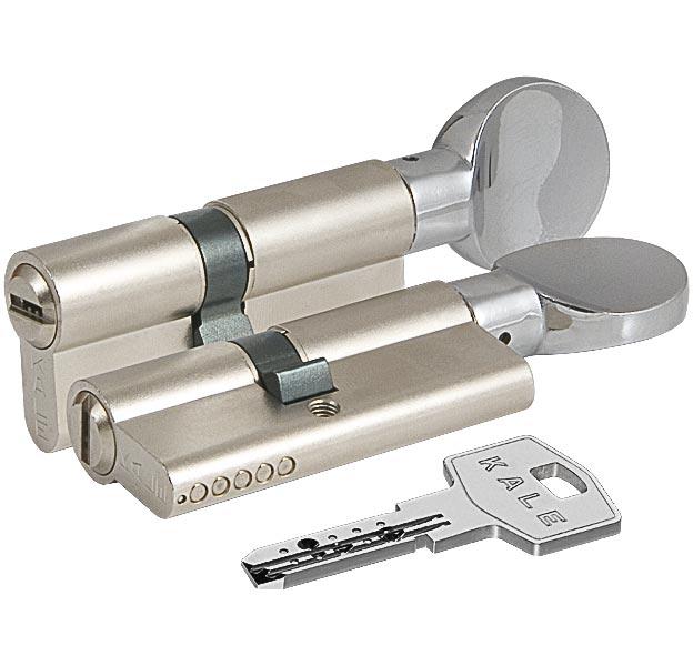 Цилиндровый механизм с вертушкой 164 BM/75 30+10+35 mm никель 5 кл.