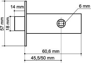 Задвижка врезная DB 920-45-25 GP Золото SKIN