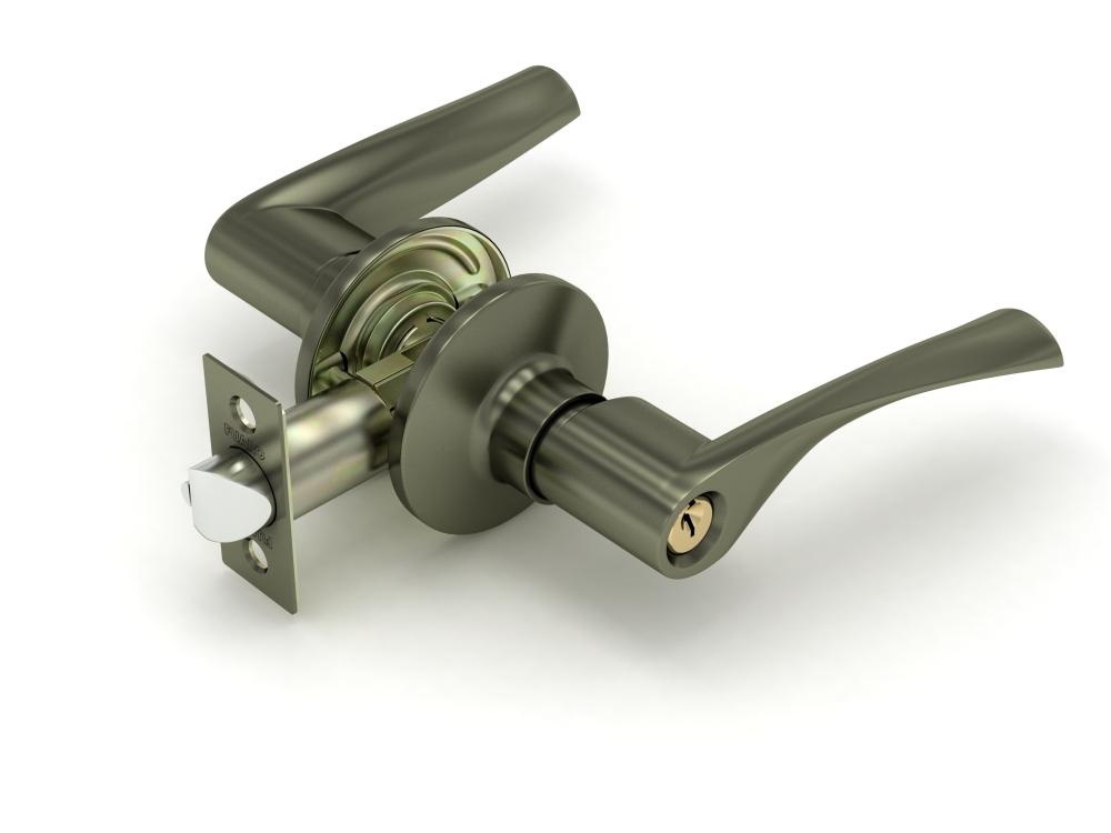 Ручка защелка  894 AB-E бронза кл/фик.