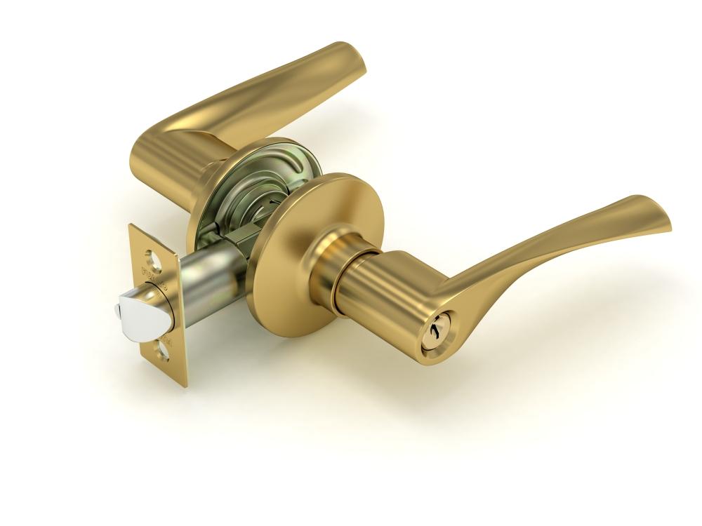 Ручка защелка  894 SB-E мат. золото кл/фик.