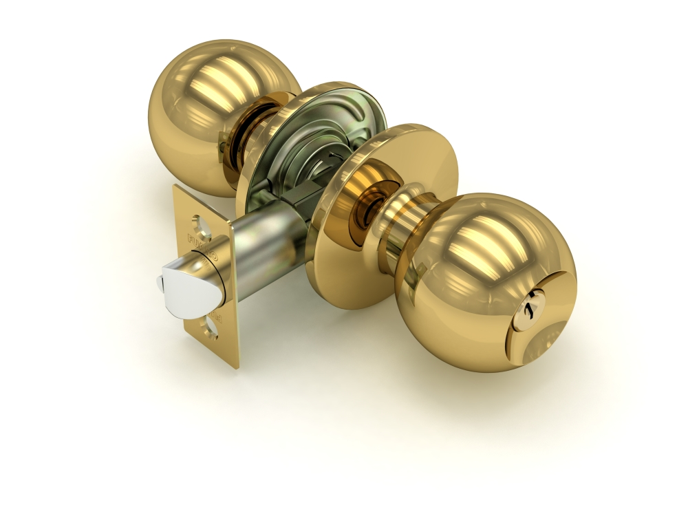 Ручка защелка  672 PB-E золото кл/фик.