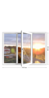 Пластиковое окно «Novotex» трехстворчатое