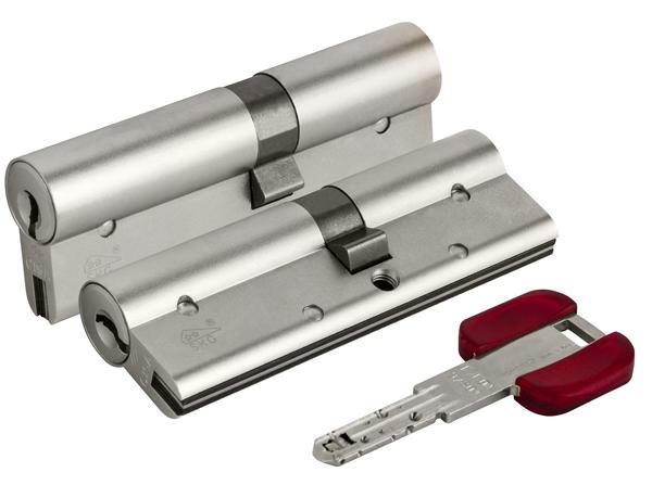 Цилиндровый механизм Cisa RS3 OL3S1-21.12 90 мм/35+10+45, НИКЕЛЬ