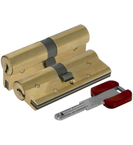 Цилиндровый механизм Cisa RS3 OL3S1-18.66 80 мм/35+10+35, ЛАТУНЬ