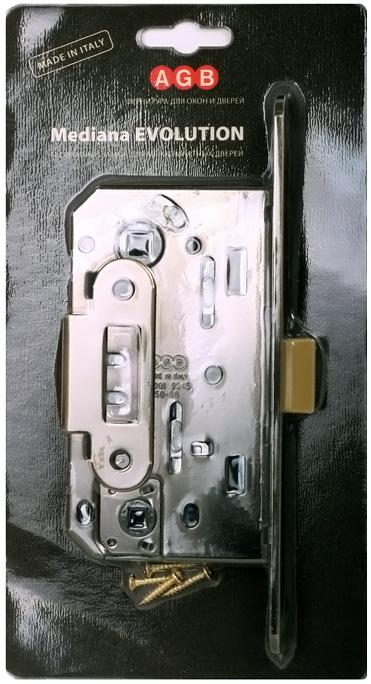 B01102.50.06.567 Замок межкомнатный WC никель MEDIANA EV. инд.упак+B01000.13