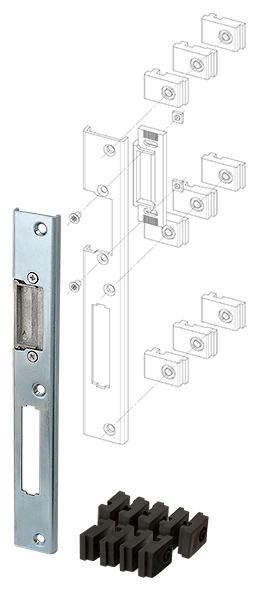 Регулируемая ответная планка для профильных дверей SP-004-R (230x30 мм)