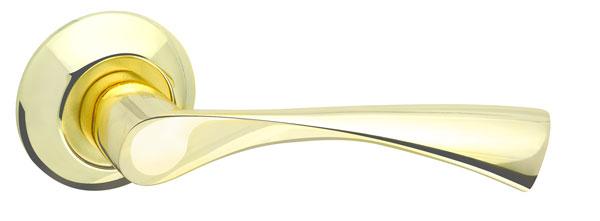 Ручка раздельная CLASSIC AR GP/SG-5 золото/матовое золото, квадрат 8x130 мм