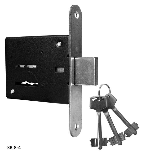 Замок врезной сувальдный ЗВ8-4 3 ключа