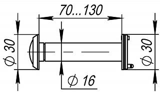 DVZ4, 16/200/70x130 (оптика пластик, угол обзора 200) GP Золото