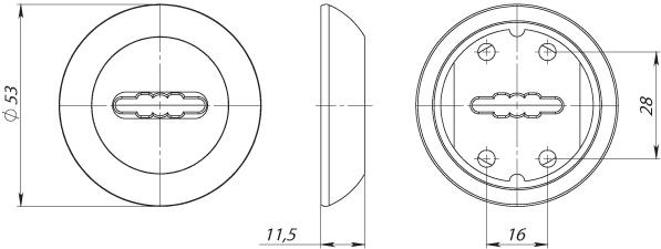 Накладка под сувальдный ключ SC RM AB/GP-7 (1 шт.)