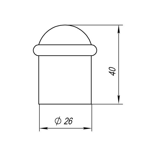 Упор дверной DS PF-40 SN-3 матовый никель