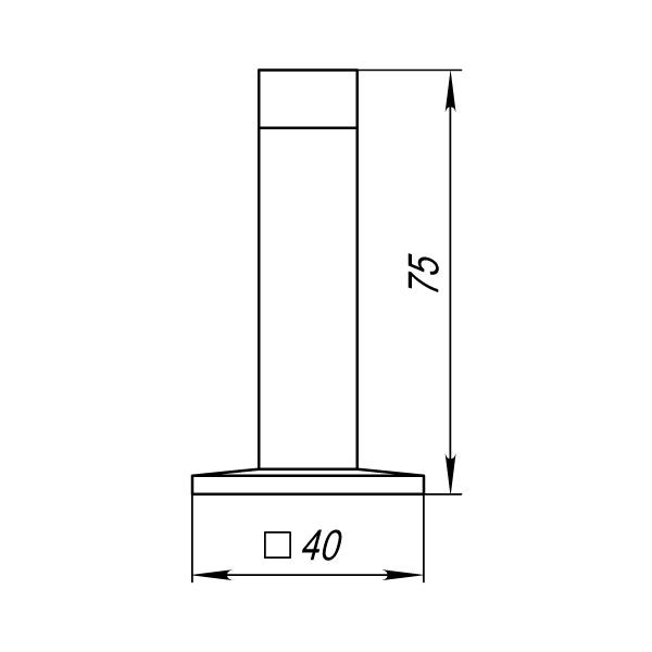 Упор дверной DS PW-75 SN-3 матовый никель