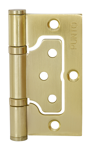 Петля универсальная без врезки 200-2B 75x2,5 SB мат. золото
