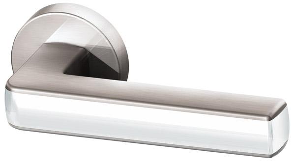 Ручка раздельная CUBE URB3  SN/White-19 Матовый никель/белый