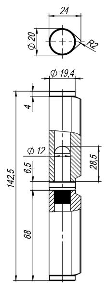 Петля приварная Т254/140х20x24 мм с подшипником