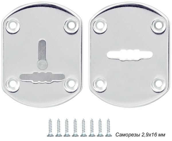 Декоративная накладка ESC021-SS (нержавейка) на сув. замок (1 пара)