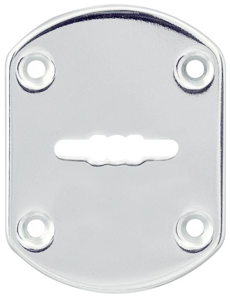 Декоративная накладка ESC021/0-SS нержавейка на сув. замок без шторки 1 шт. тех.упак.